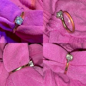 Vintage Solitaire Gold Plated Ring